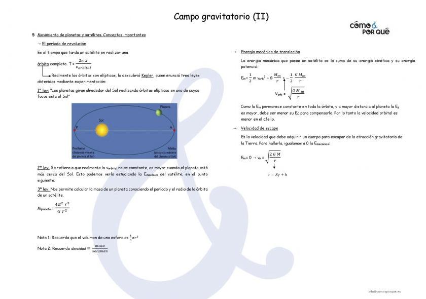 campo gravitatorio ii